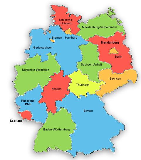 Landkarte Deutschland Pflegekennzahlen