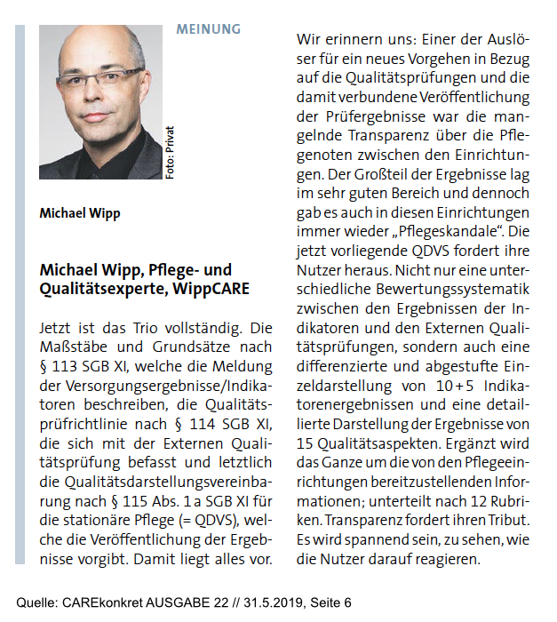 Meinung Michael Wipp Pflege QDVS