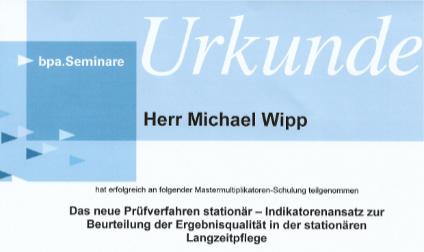 Michael Wipp Urkunde Mastermultiplikator